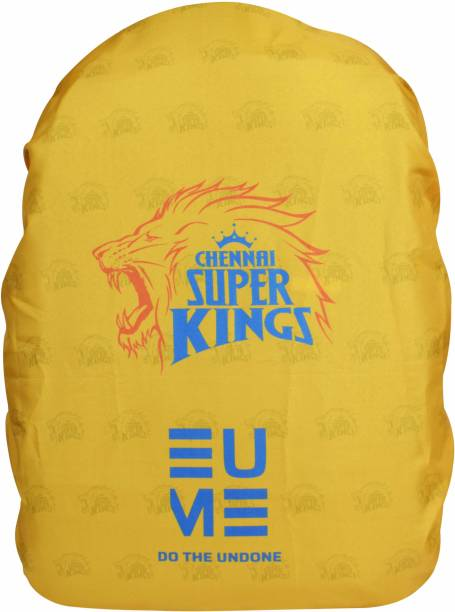 EUME Official CSK 35 Ltr Polyester Rain and Dust Cover (Yellow) Dust Proof, Waterproof Laptop Bag Cover, School Bag Cover
