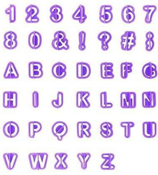 Royals Alphabet & Number Cutters, Set of 40 Cookie Cutter