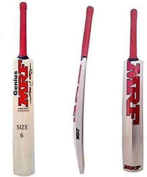 MRF (SIZE-6) TANNIS WOODEN KASHMERI POPULER WILLOW Poplar Willow Cricket  Bat