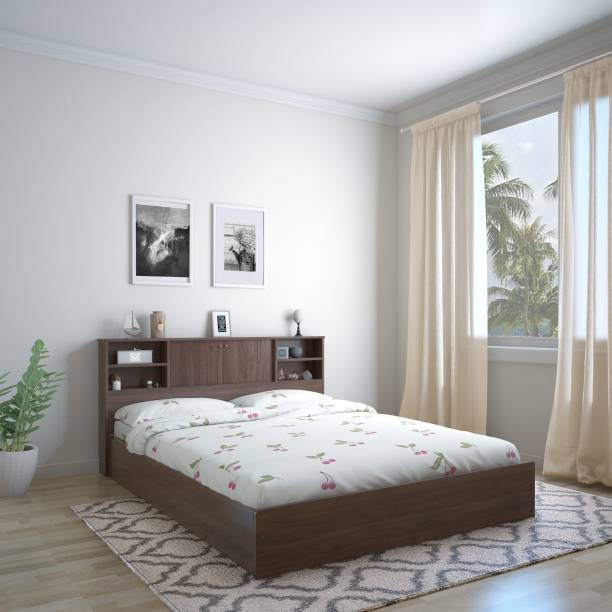 @Home by nilkamal Gunner Engineered Wood Queen Box Bed