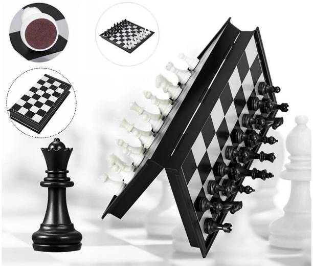 AGAMI Premium Magnetic Chess Board Game with Folding and storage for travel Strategy & War Games Strategy & War Games Board Game