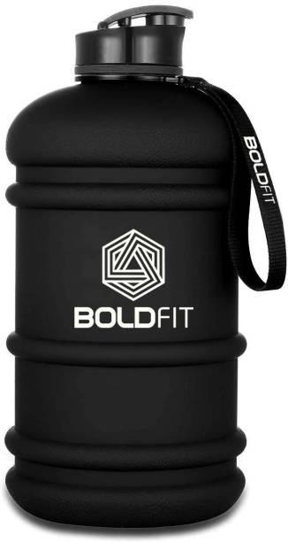 BOLDFIT Gym Gallon Water Jug Bottle (2.2 Litre, Extra Large Matt Gallon Black) 2200 ml Sipper