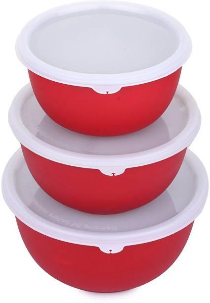 BLASTOISE POGO MICROWAVE SAFE PLASTIC COATED U-BOWL 13/15/17 CM (SET OF 3)_RED Stainless Steel, Polypropylene Vegetable Bowl