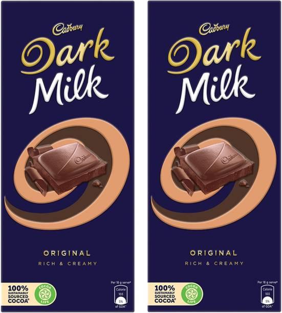 Cadbury Dark Milk Chocolate Bar, 156g - pack of 2 Bars
