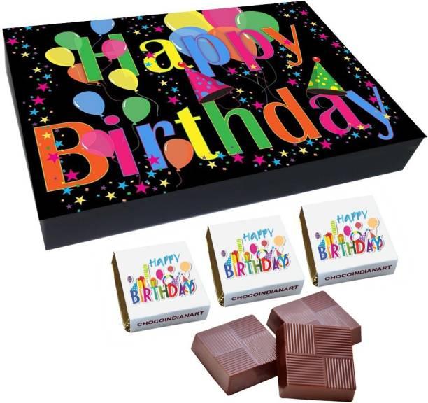 CHOCOINDIANART Happy BirthDay, 12 Chocolate Surpise GiftS Box, Truffles