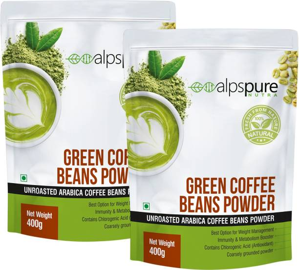 ALPSPURE Nutra Green Coffee Beans Powder 100% Natural Unroasted Arabica Coffee Beans Powder   Immunity Booster, Helps in Weight Management Coffee Beans