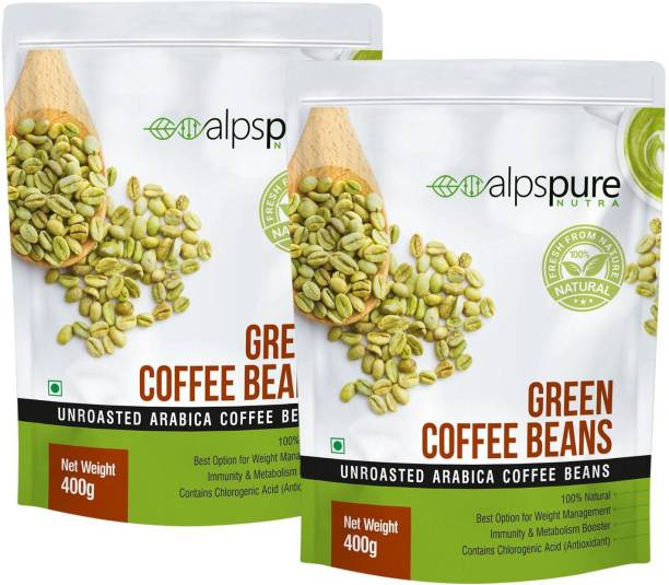 ALPSPURE Nutra Green Coffee Beans 100% Natural Unroasted Arabica Coffee Beans   Immunity Booster, Helps in Weight Management Coffee Beans Coffee Beans