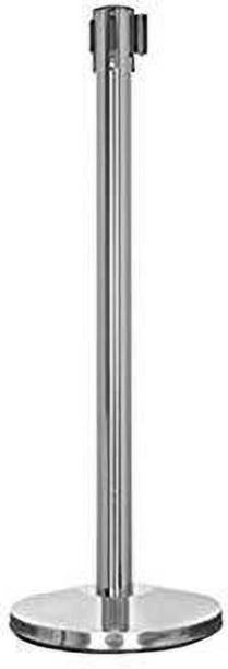 Solitaire Q Manager,202 Grade Extendable 2.25 mtr Hook Type Stanchions Barrier Accessories Steel Barricade uses in airport,malls, museum ,retail outlet,petrol pump,hospitals,ticket counters (Pack of 1) Emergency Sign
