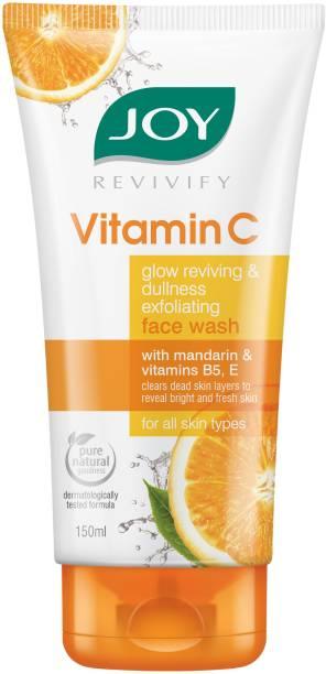 Joy Revivify Vitamin C Glow Reviving and Dullness Exfoliating With Mandarin, Vitamin B5, E | Skin Brightening - No Parabens, Sulphates  Face Wash