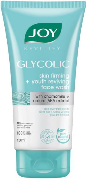 Joy Revivify Glycolic Skin Firming + Youth Reviving  With Natural AHA & Chamomile Extracts - No Parabens, Sulphates Face Wash