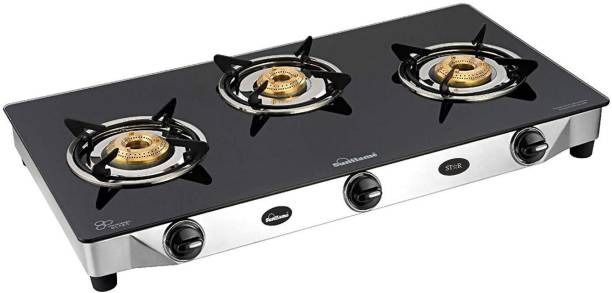 SUNFLAME Glass, Stainless Steel Manual Gas Stove