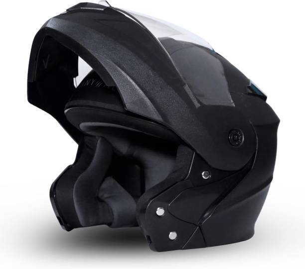 GoMechanic Anymal Series -Eagle Flip-Up with Clear Visor Motorsports Helmet