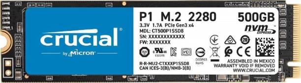 Crucial CT500P1SSD8 500 GB Laptop Internal Solid State Drive (P1 500GB 3D NAND NVMe PCIe M.2 SSD (CT500P1SSD8))