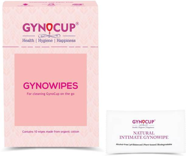 Gynocup Natural Intimate Refreshing & Clean Wipes - Set-10 Intimate Wipes
