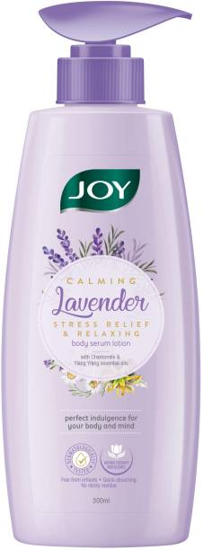Joy Calming Lavender Body Serum Lotion | Stress Relief & Relaxing With Lavender and Jojoba Oil | Skin Glowing, Moisturising and Quick Absorbing Serum Lotion, For All Skin Types
