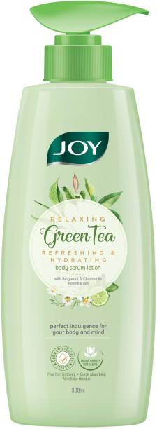 Joy Relaxing Green Tea Body Serum Lotion | Refreshing & Hydrating With Bergamot & Chamomile Essential Oil | Quick Absorbing & Skin Glowing | Serum Lotion, For All Skin Types