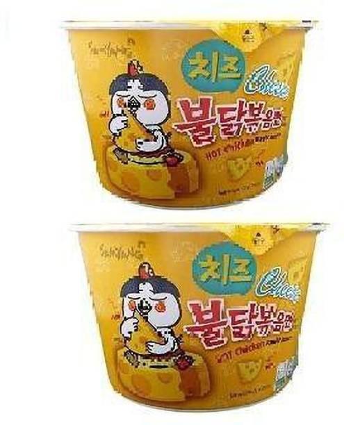 Samyang Big Cheese Bowl Hot Chicken Flavor Ramen Noodle Soup 105gm*2Pack (Import Instant Noodles Non-vegetarian