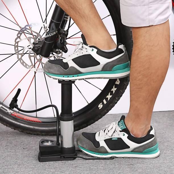 ANADI Aluminum Alloy Portable Floor Foot Activated Bicycle Air Pump 230 PSI Bicycle Pump