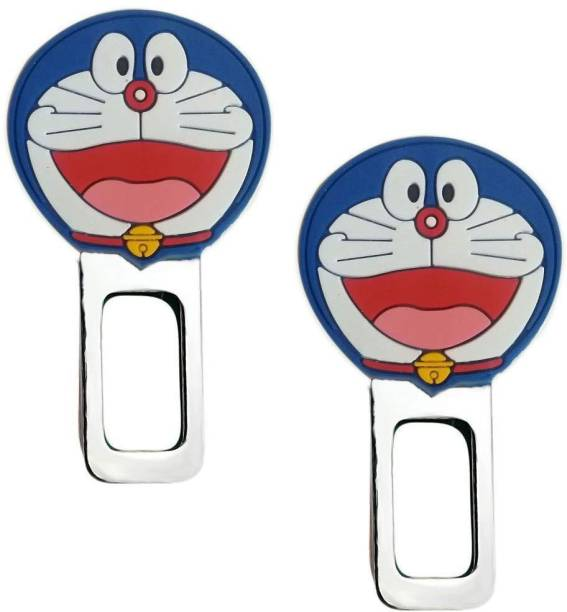 carfrill Set of 2 Car Safety Alarm Stopper Null Insert Seat Belt Buckle Clip for All Cars (Doraemon Design) Seat Belt Buckle