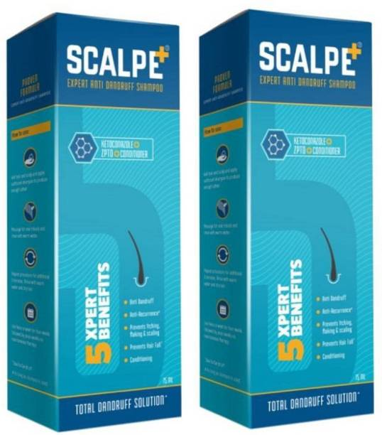 SCALPE Plus Anti Drndruff Shampoo pack of 2 (75*2=150ml)