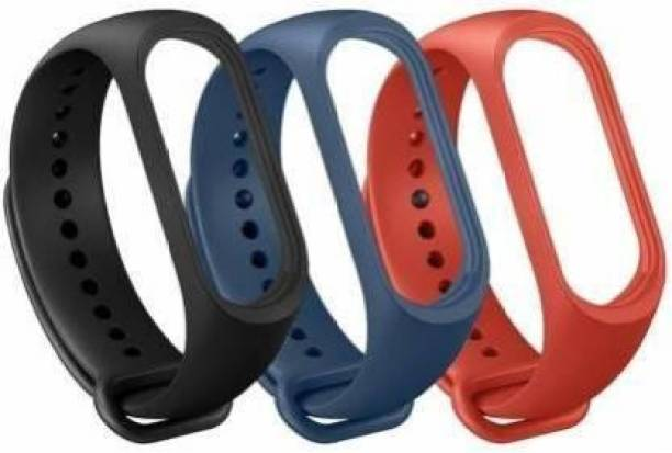Krumate Combo Pack of 3 Smart Fitness Sport Watch Band Replacement Silicone Sports Soft Wrist Strap for Band Strap 3/4 Smart Band Strap
