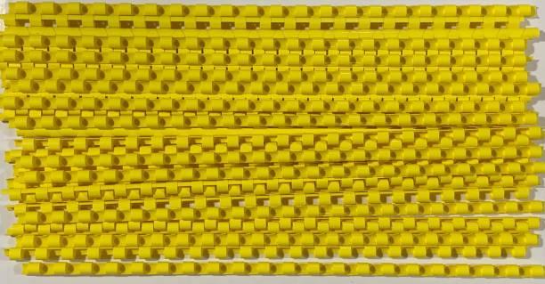SOFTEK 8MM Binding combs-Yellow Colour-100nos Manual Comb Binder