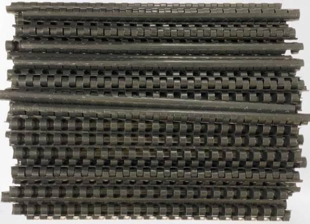 SOFTEK 12MM Binding combs-Black Colour pack of-100nos Manual Comb Binder