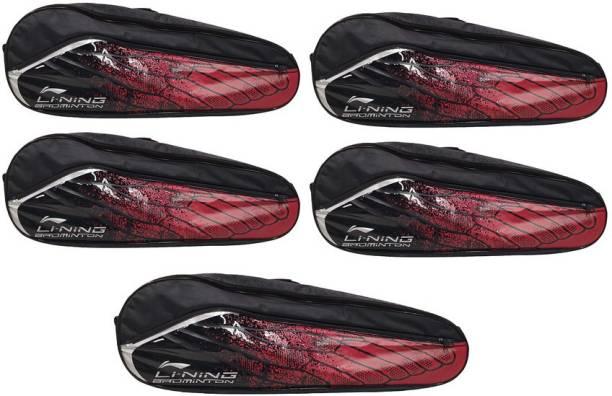 LI-NING Badminton Racquet ABSM181 Kit Bag, Pack of 5, Red & Black