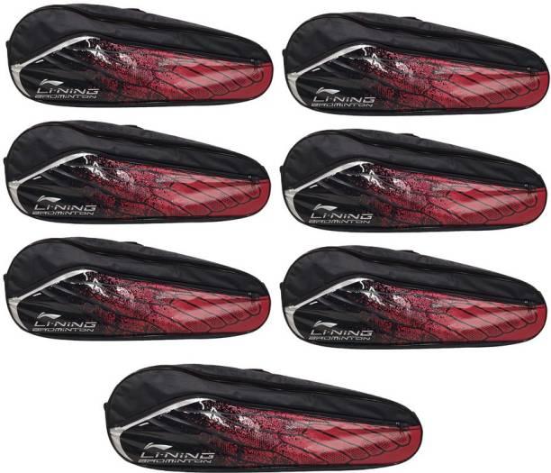LI-NING Badminton Racquet ABSM181 Kit Bag, Pack of 7, Red & Black