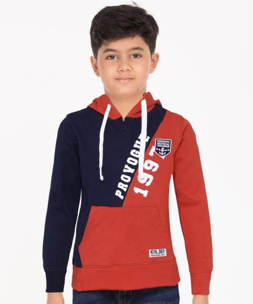 PROVOGUE Full Sleeve Color Block Boys Sweatshirt