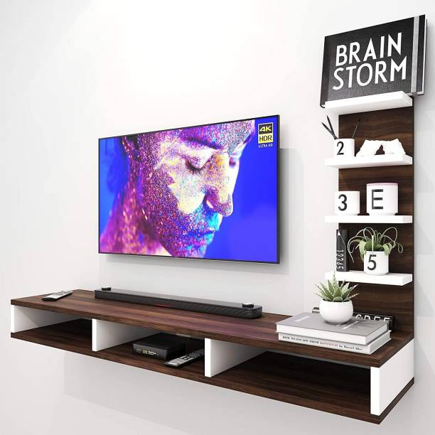 """Furnifry Wooden Wall Mounted TV Stand/TV Entertainment Unit/TV Cabinet with Utility Shelves for Set-Top Box & Decorative Objects/Set-Top Box Stand/Ideal for Up to 42""""- Accessories Included Engineered Wood TV Entertainment Unit Engineered Wood TV Entertainment Unit"""