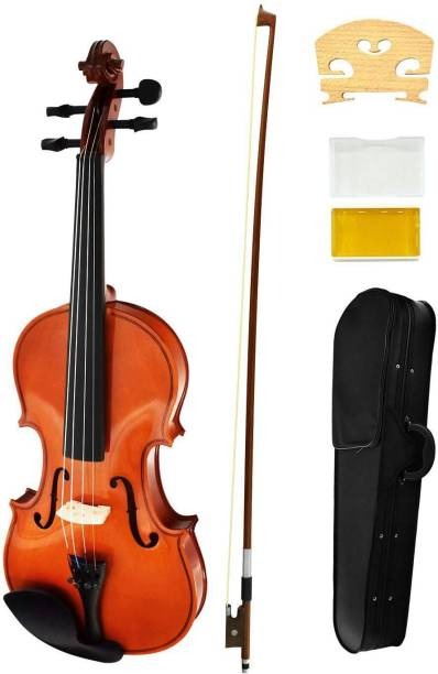 SOUVENIR Violin - Full Set Maple Wood Violin with Case, Rosin Hand-Carved Solid Spruce Top, Sides Violin for Kids Beginners Students with Hard Case, Rosin, Shoulder Rest, Redwood Bow - Acoustic Violin 4/4 Semi- Acoustic Violin (Multi Yes) 4/4 Semi- Acoustic Violin