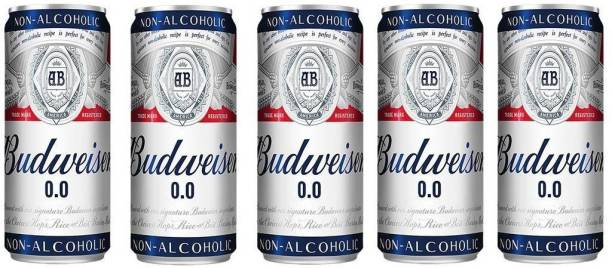 Budweiser Non Alcoholic Beer (Imported) 330ml(Pack of 5) Can