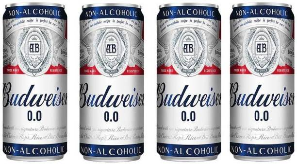 Budweiser Non Alcoholic Beer (Imported) 330ml (Pack of 4) Can