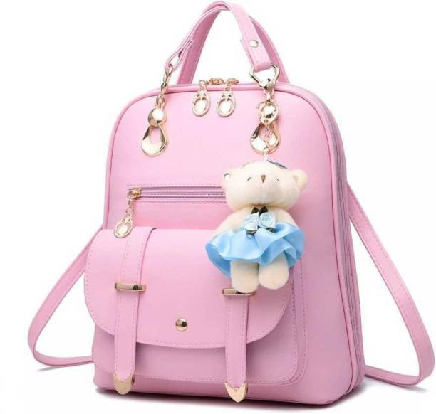 Belwa Small 8 L Backpack Small 8 L Backpack Women / Girls Stylish Trendy College Casual School Hand & Shoulder Bag (Pink) 8 L Backpack