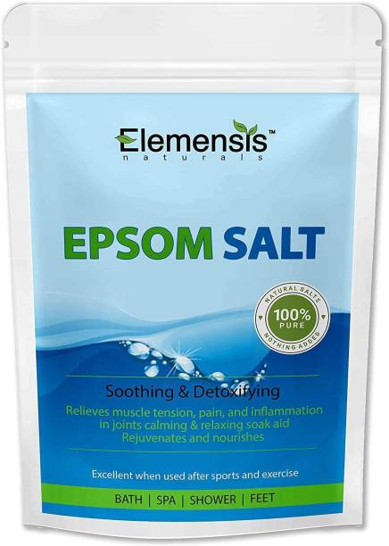 Elemensis Naturals Epsom Salt (Magnesium Sulphate) For Bathing, Relaxing Foot and Pain Relief Therapeutic Spa Treatment & Refreshing Body (500gm)