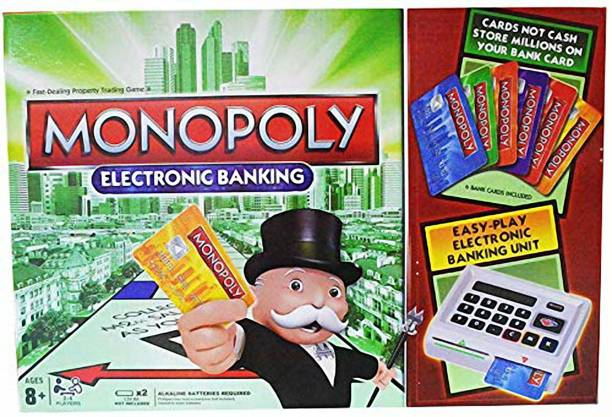 ZAMZAM Monopoly Electronic Banking Board Game 2 Or 4 players game Educational Board Games Board Game Money & Assets Games Board Game