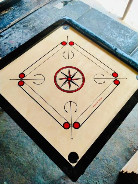 TYF Matte Finish large Carrom Board ludo with wooden Coins Striker (32 x 32 Inch) 80 cm Carrom Board