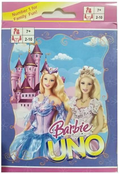 SHUBH@AYUSH Barbie uno card Games Fast Fun FAMILY CARD GAME COMPLETE PACK OF 1