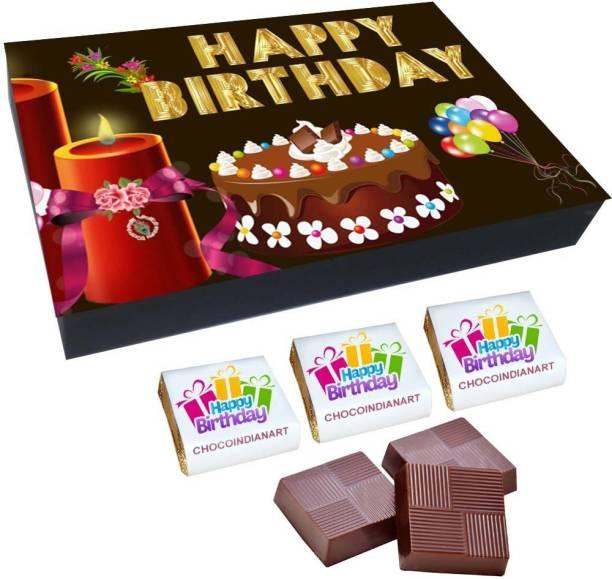 CHOCOINDIANART Special, Happy BirthDay, 12 Chocolate GiftS Box, Truffles