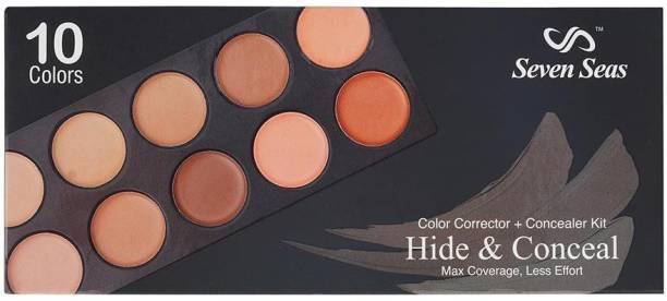 SEVEN SEAS PROFESSIONAL BASE CONCEALER KIT 10 color set - Max Coverage & Less effort Concealer