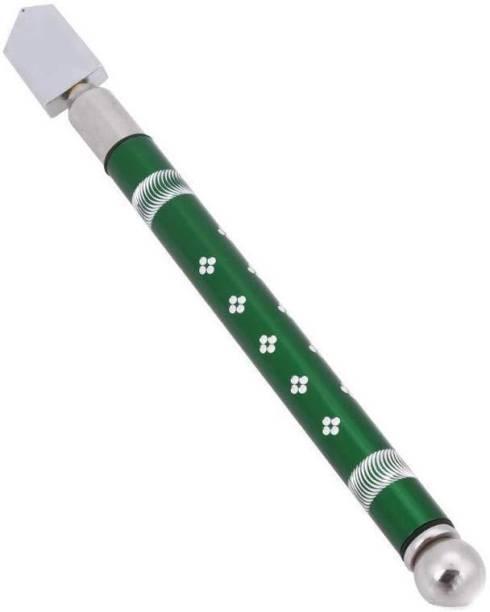 Gambit Pencil Glass cutter Anti-Slip Professional Glass Cutting Tool - 5mm-15 mm Metal Handle Pencil Style Glass Cutter Tool/Oil Glass Cutting Tools (Multicolors) Glass Cutter Glass Cutter Glass Cutter