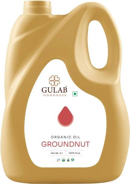 Gulab Organic Groundnut / Peanut Oil Groundnut Oil Can