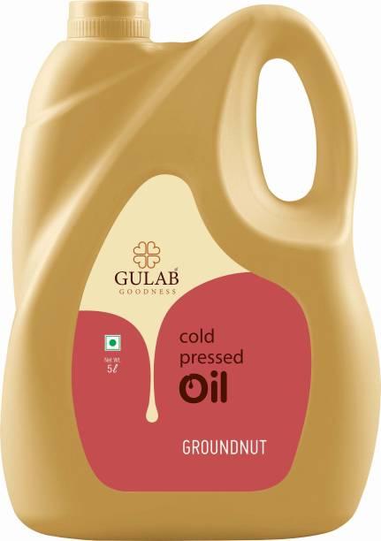 Gulab Cold Pressed (Virgin, Chekku / Ghani) Groundnut / Peanut Oil Groundnut Oil Can