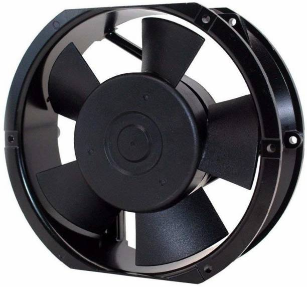 """GoodsBazaar 6"""" Round Oval 230v AC 172x150,51mm 6 Inch Oval Round Shape Industrial Panel Fan Air Cooler Axial Cooling Fan Aluminum Oval Round Metal Body Axial Fan AC Cooling Fan Panel Fan 6"""" Air Blower Cooler"""