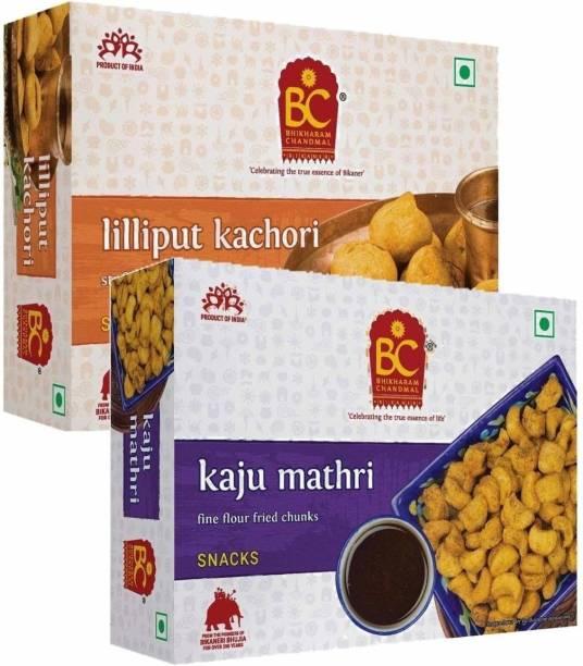 BHIKHARAM CHANDMAL Lilliput Kachori 425gm & Kaju Mathri 425gm