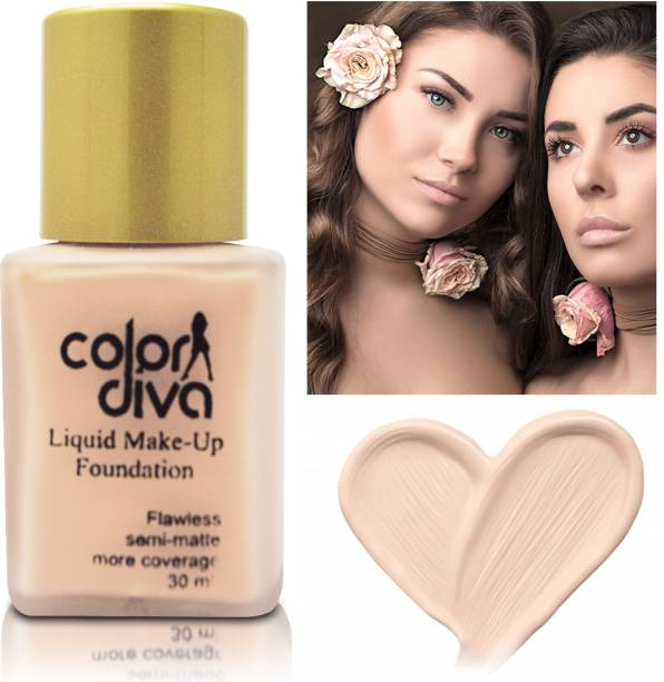 Color Diva Liquid Makeup Foundation Flawless Semi-Matte, Shade-103 Foundation