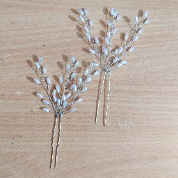 GuruEmbellish Wedding Party Bridal Fancy Hair Clip Hair Pins Hair Accessories, Pack Of 1 Hair Pin