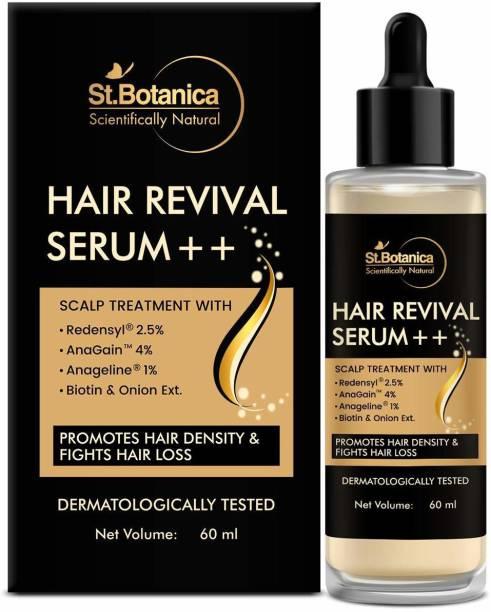 StBotanica Hair Revival Serum ++ With Redensyl 2.5%, Anagain 4%, Anageline 1%, Biotin & Onion Oil