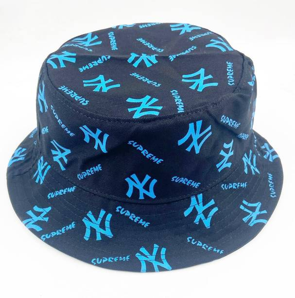 ghanim Solid Unisex Fishermen Bucket Hat Cap NY PRINT CAP